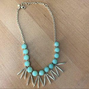 J. Crew: Jade & Brass Necklace
